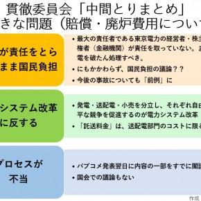 1/10 パブコメセミナー「原発事故費用&廃炉費用、東京電力が責任を取らないまま国民負担でいいの??」
