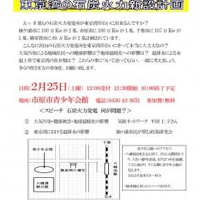 2/25 みんなで考えよう!東京湾の石炭火力新設計画